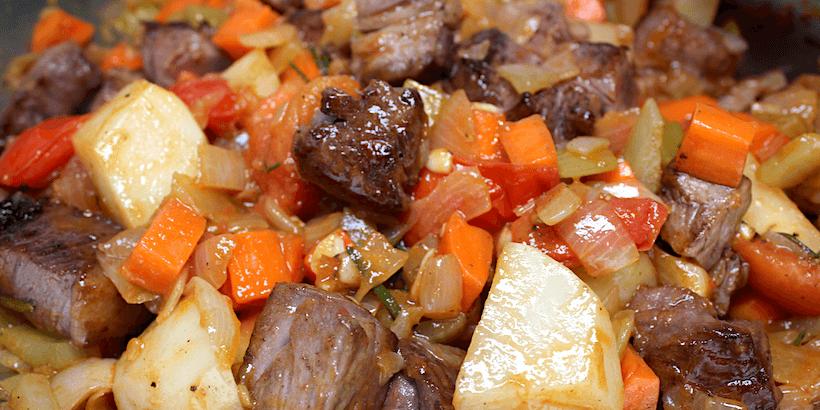 羅宋湯拌炒牛肉步驟
