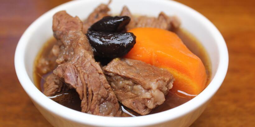黑蒜頭牛肉湯完成圖