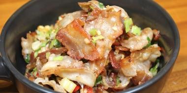 家常料理系列- 乾煸香酥五花肉