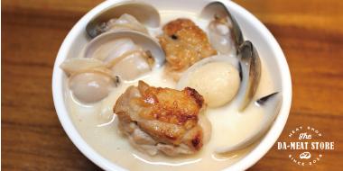 家常料理系列-蒜頭蛤蜊雞湯